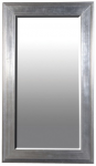 Large Silver/Black Frame Mirror