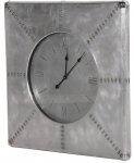 Large Brushed Aluminium Clock